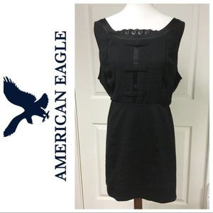 American Eagle Bow Sleeveless Mini Dress Black S